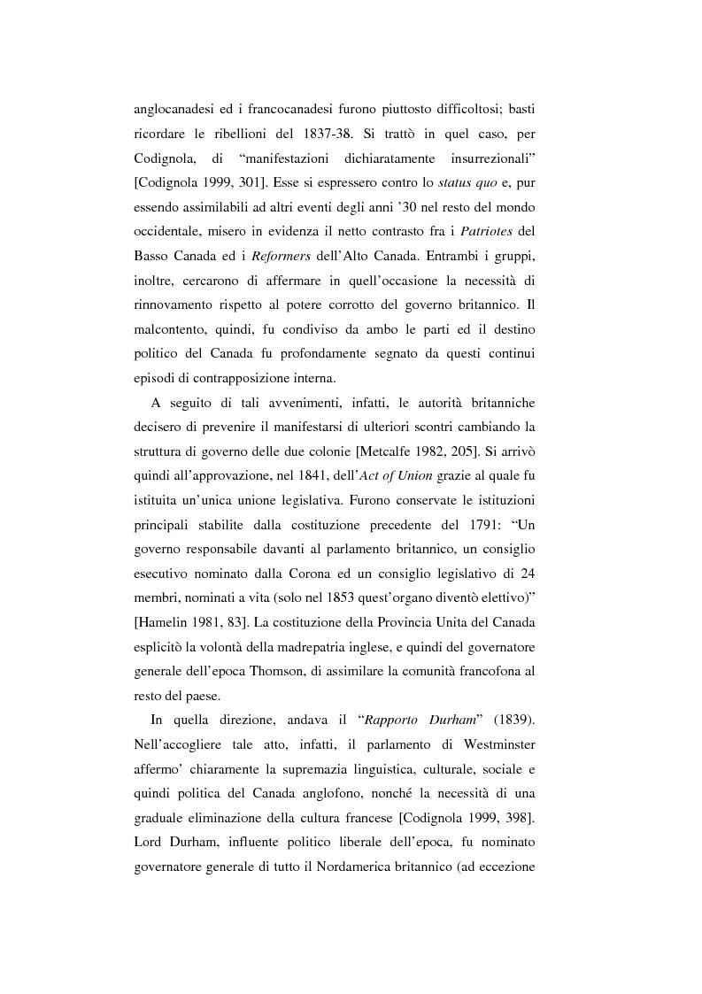 Anteprima della tesi: Il Canada: sistema federale e crisi di statualità, Pagina 12
