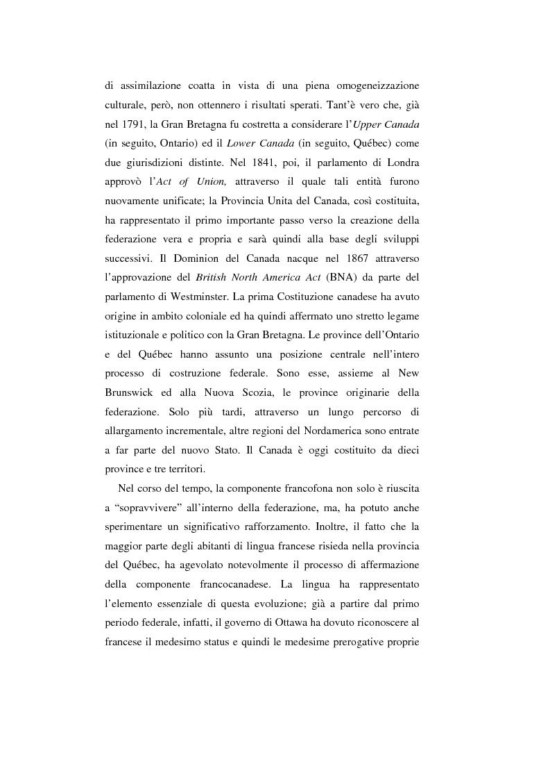 Anteprima della tesi: Il Canada: sistema federale e crisi di statualità, Pagina 2