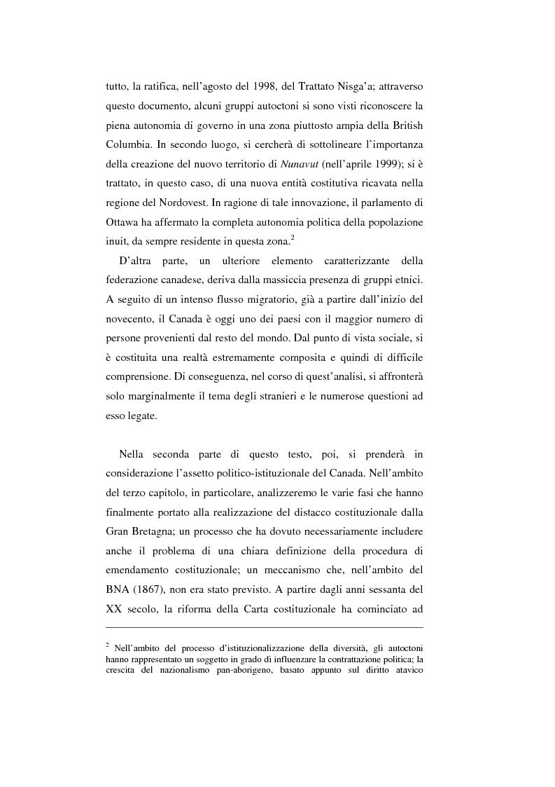 Anteprima della tesi: Il Canada: sistema federale e crisi di statualità, Pagina 4