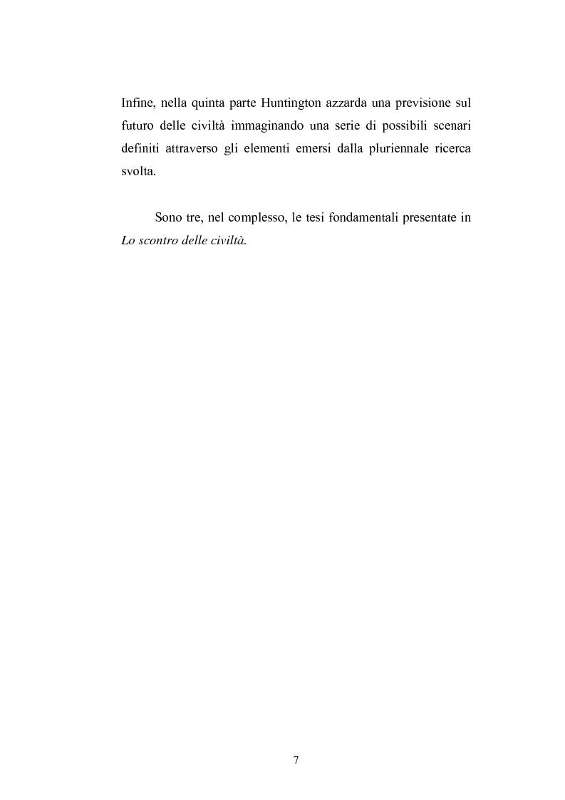Anteprima della tesi: Il paradigma culturale di Samuel P. Huntington: analisi, critiche e prospettive, Pagina 5