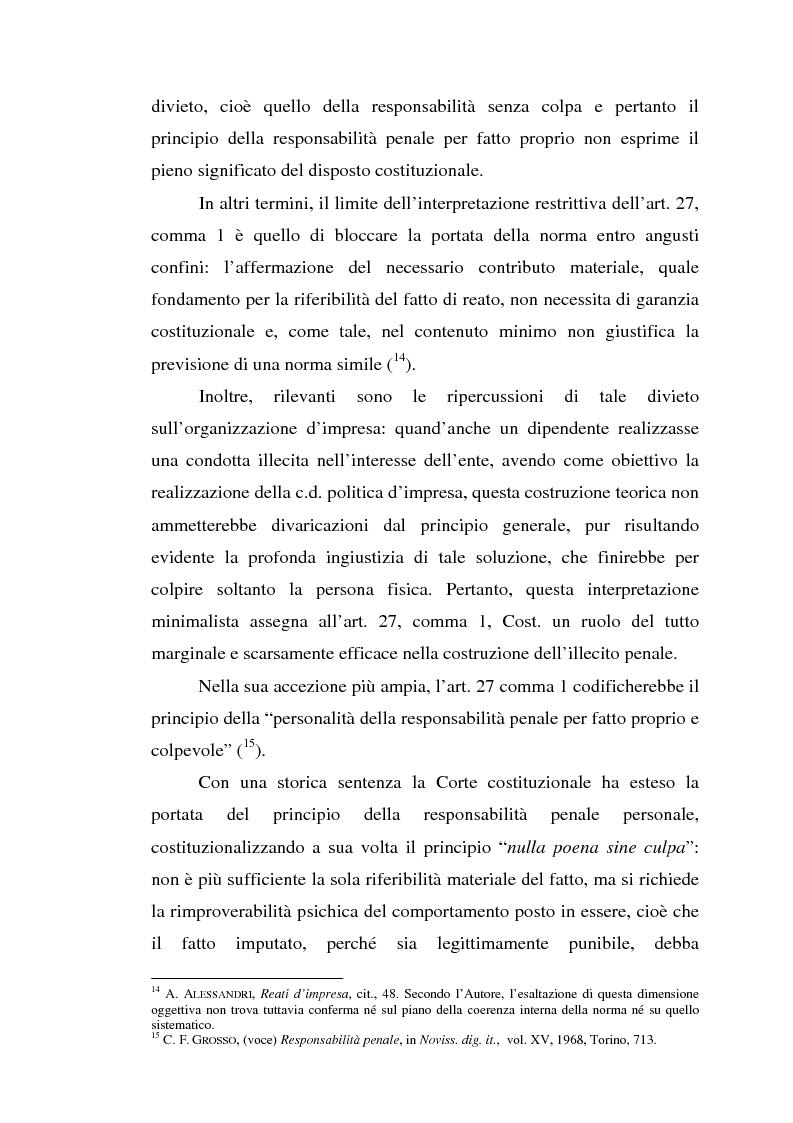 Anteprima della tesi: La responsabilità da reato dell'ente collettivo, Pagina 11