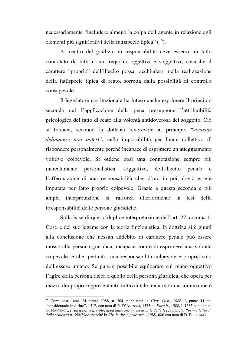 Anteprima della tesi: La responsabilità da reato dell'ente collettivo, Pagina 12