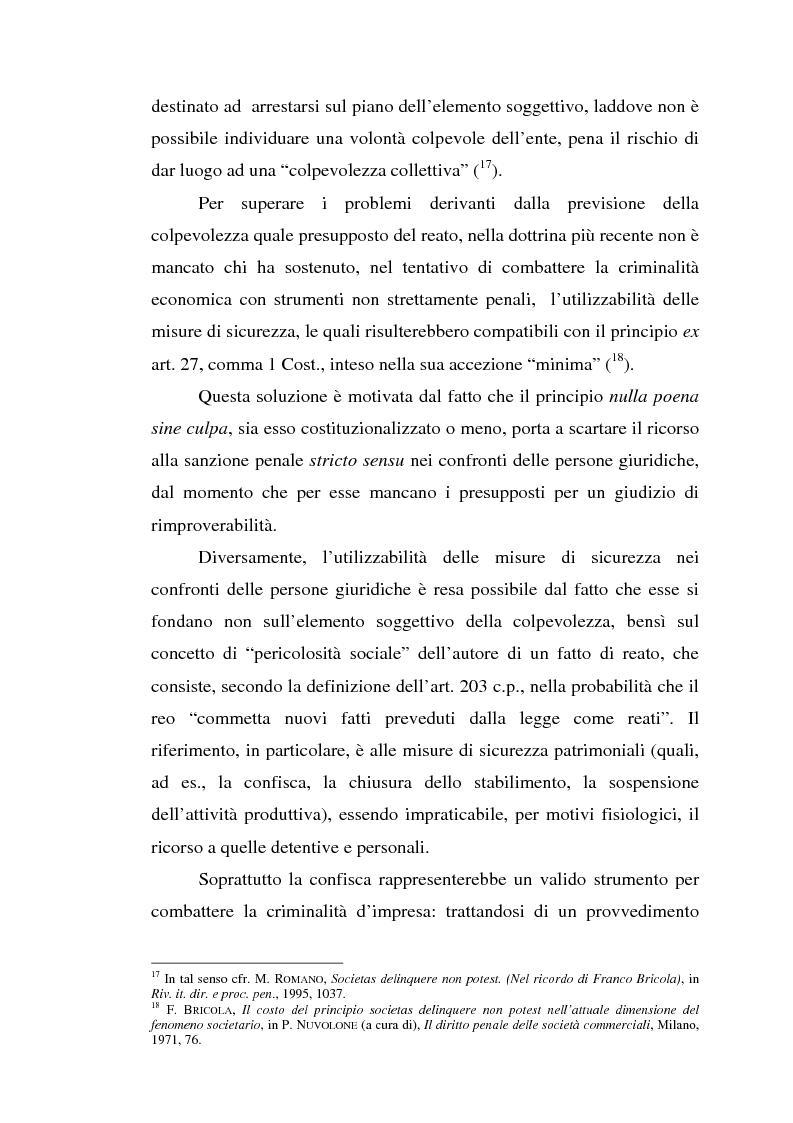 Anteprima della tesi: La responsabilità da reato dell'ente collettivo, Pagina 13