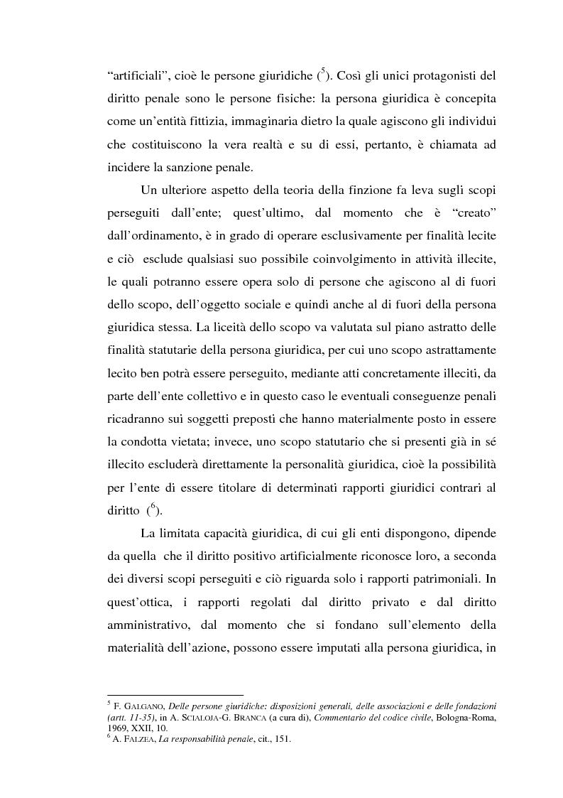 Anteprima della tesi: La responsabilità da reato dell'ente collettivo, Pagina 4