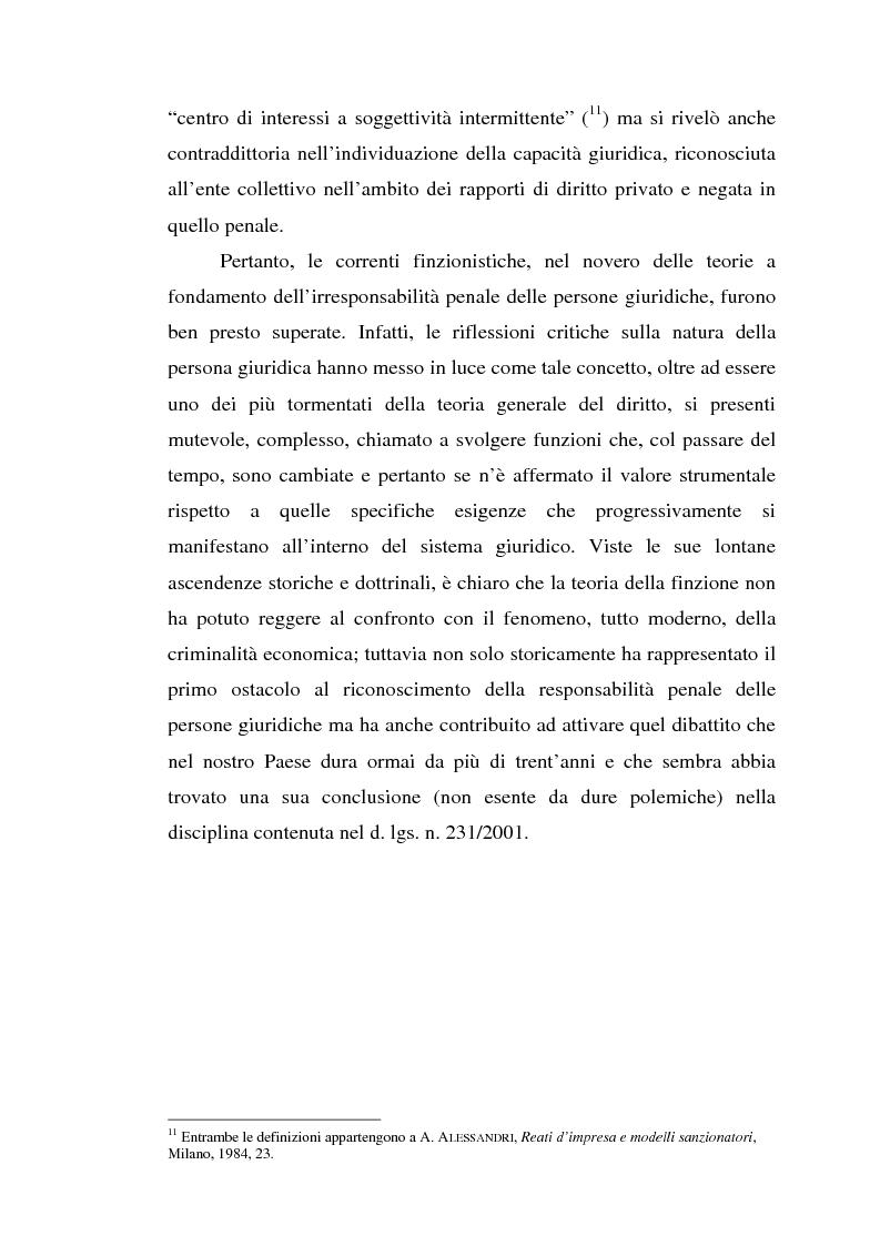 Anteprima della tesi: La responsabilità da reato dell'ente collettivo, Pagina 6