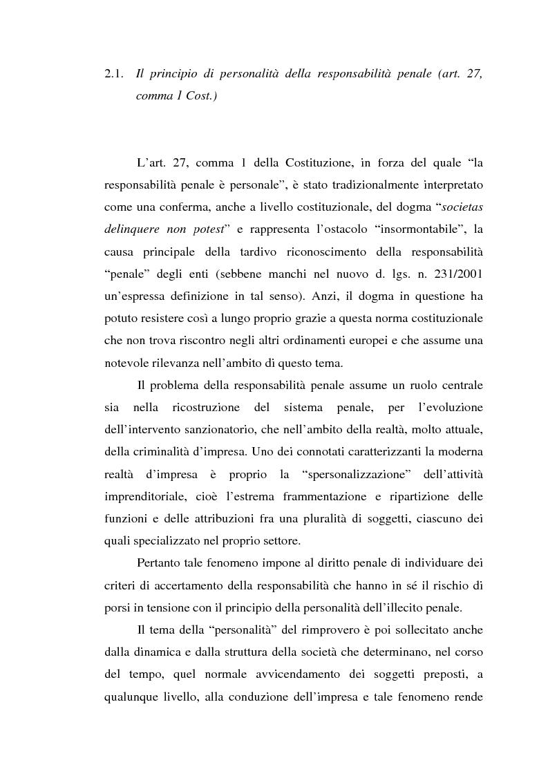Anteprima della tesi: La responsabilità da reato dell'ente collettivo, Pagina 8