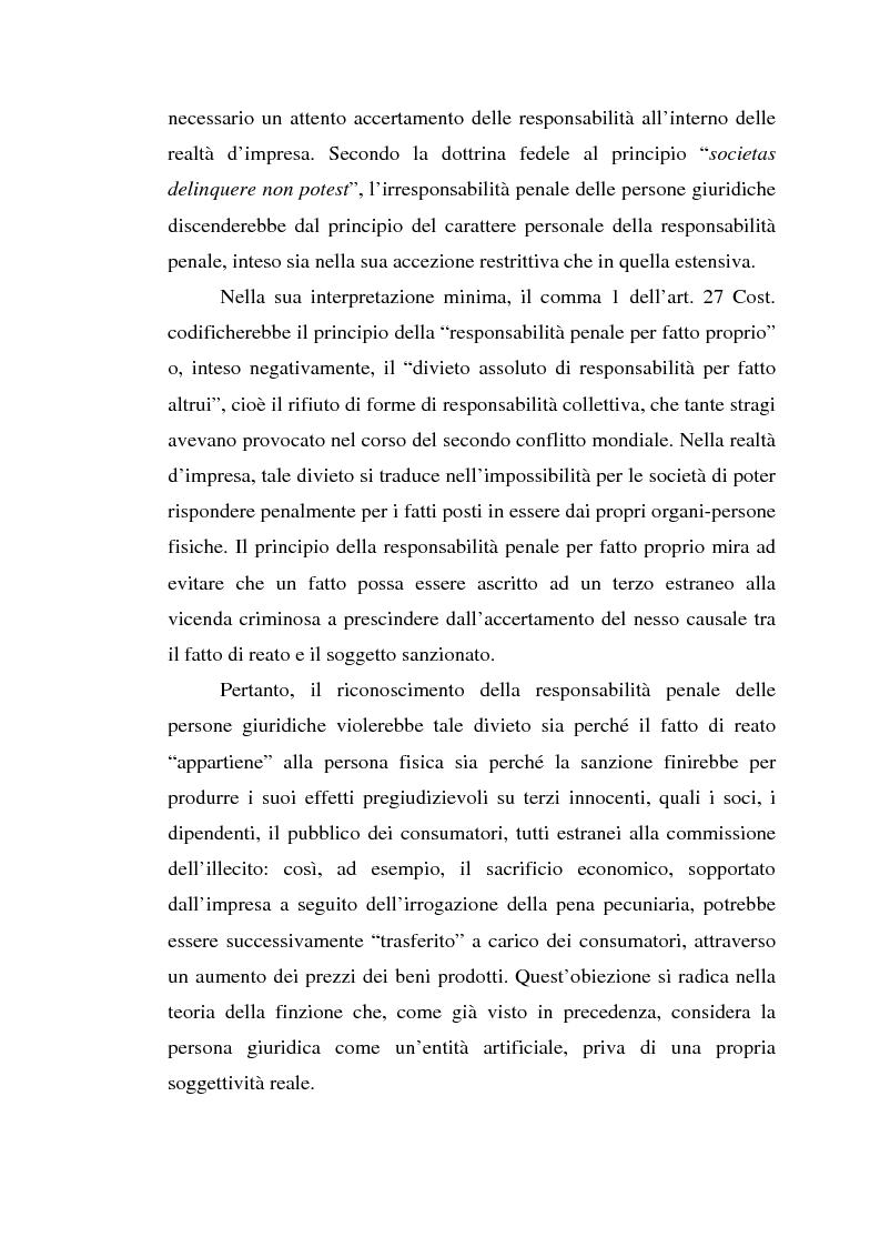 Anteprima della tesi: La responsabilità da reato dell'ente collettivo, Pagina 9