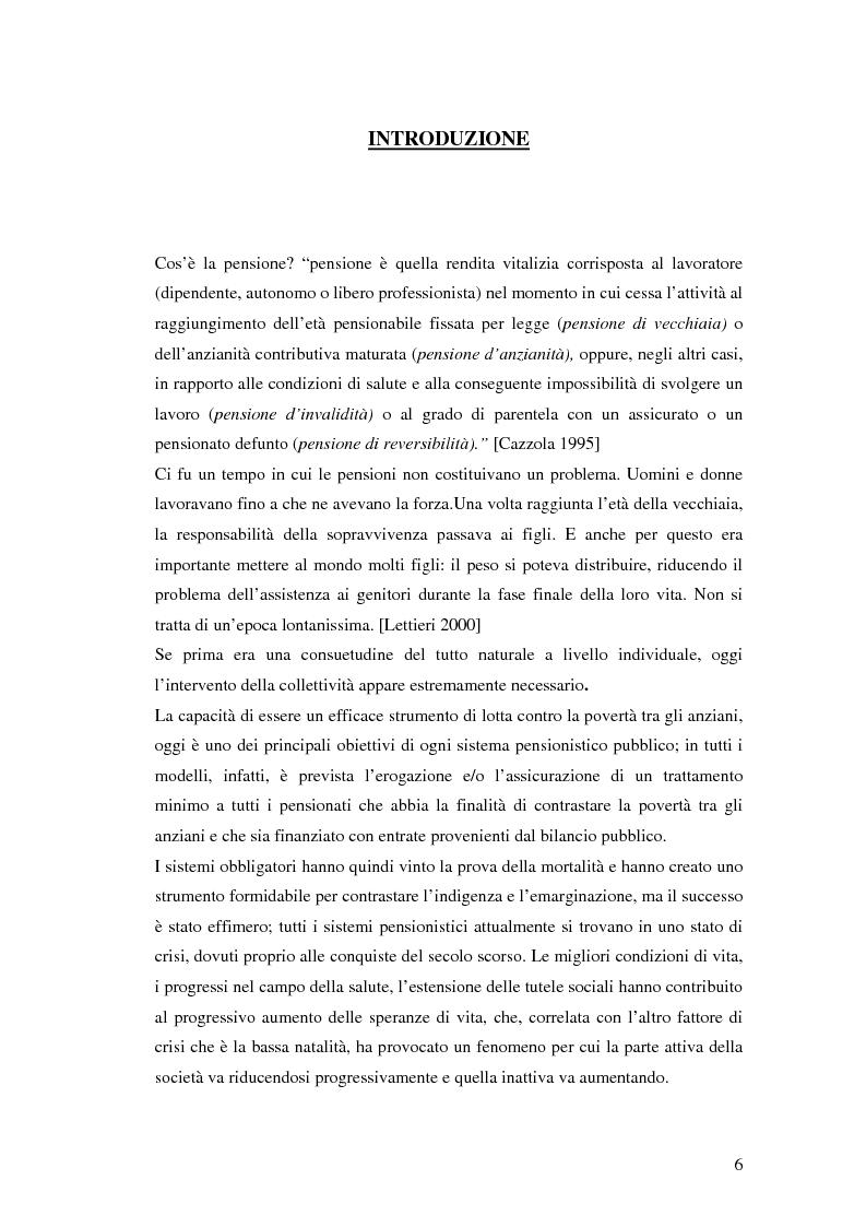 Il terzo pilastro della previdenza: analisi di un decollo mancato - Tesi di Laurea