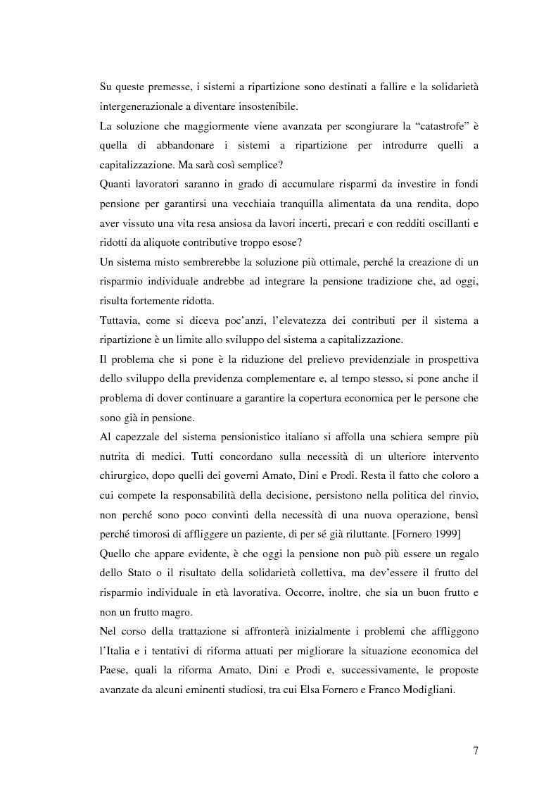 Anteprima della tesi: Il terzo pilastro della previdenza: analisi di un decollo mancato, Pagina 2