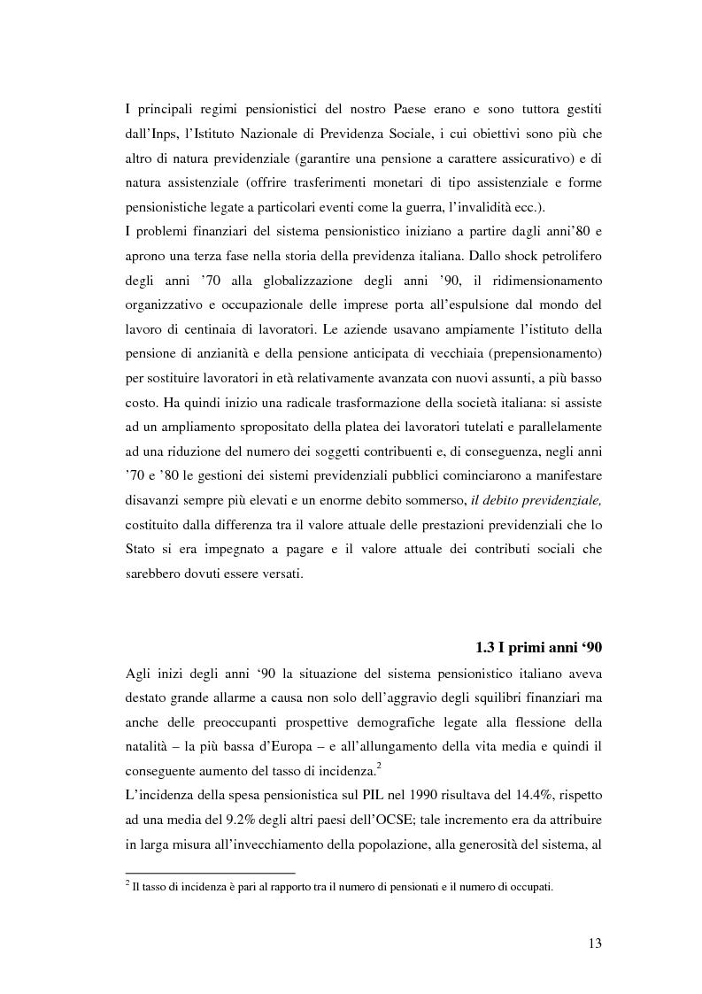 Anteprima della tesi: Il terzo pilastro della previdenza: analisi di un decollo mancato, Pagina 8