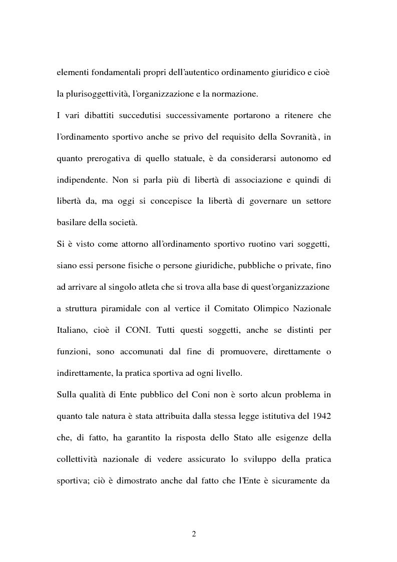 Anteprima della tesi: Lavoro sportivo, Pagina 2