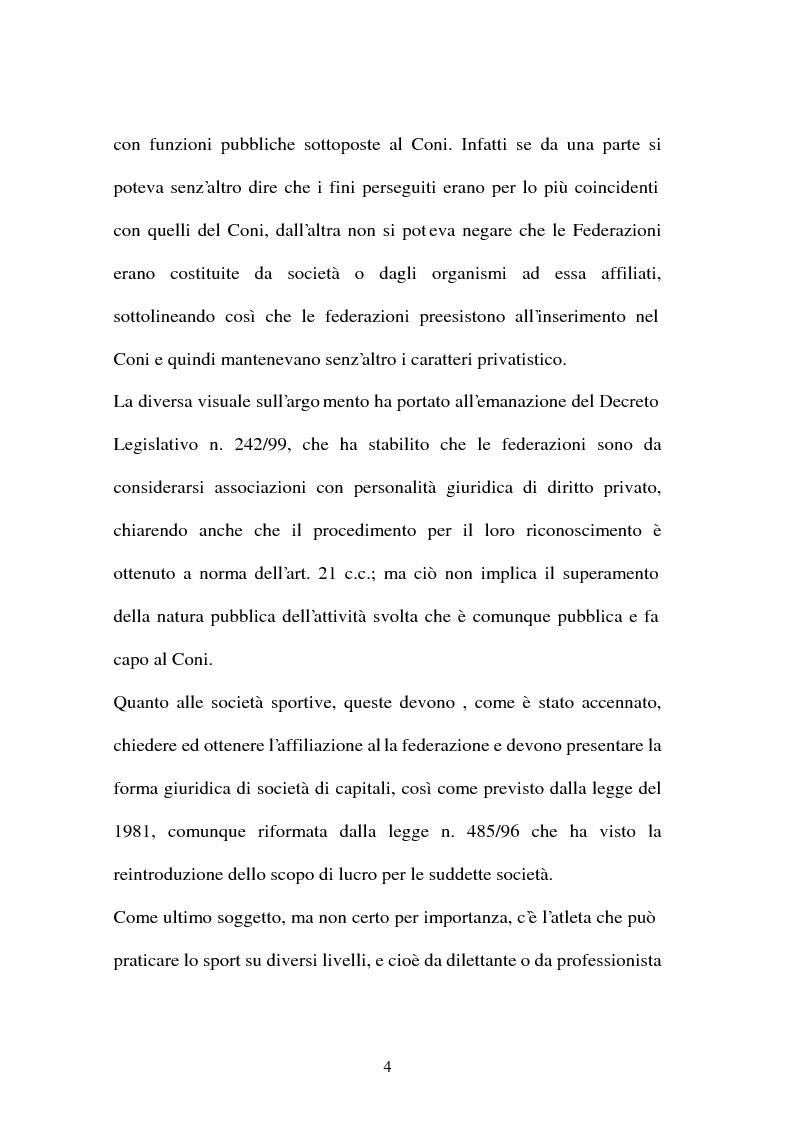 Anteprima della tesi: Lavoro sportivo, Pagina 4