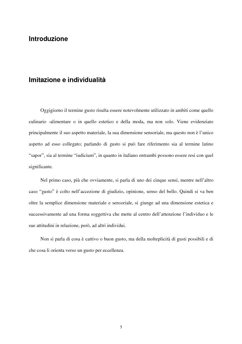 Anteprima della tesi: I mass media e il ruolo del gusto nella società moderna, Pagina 1