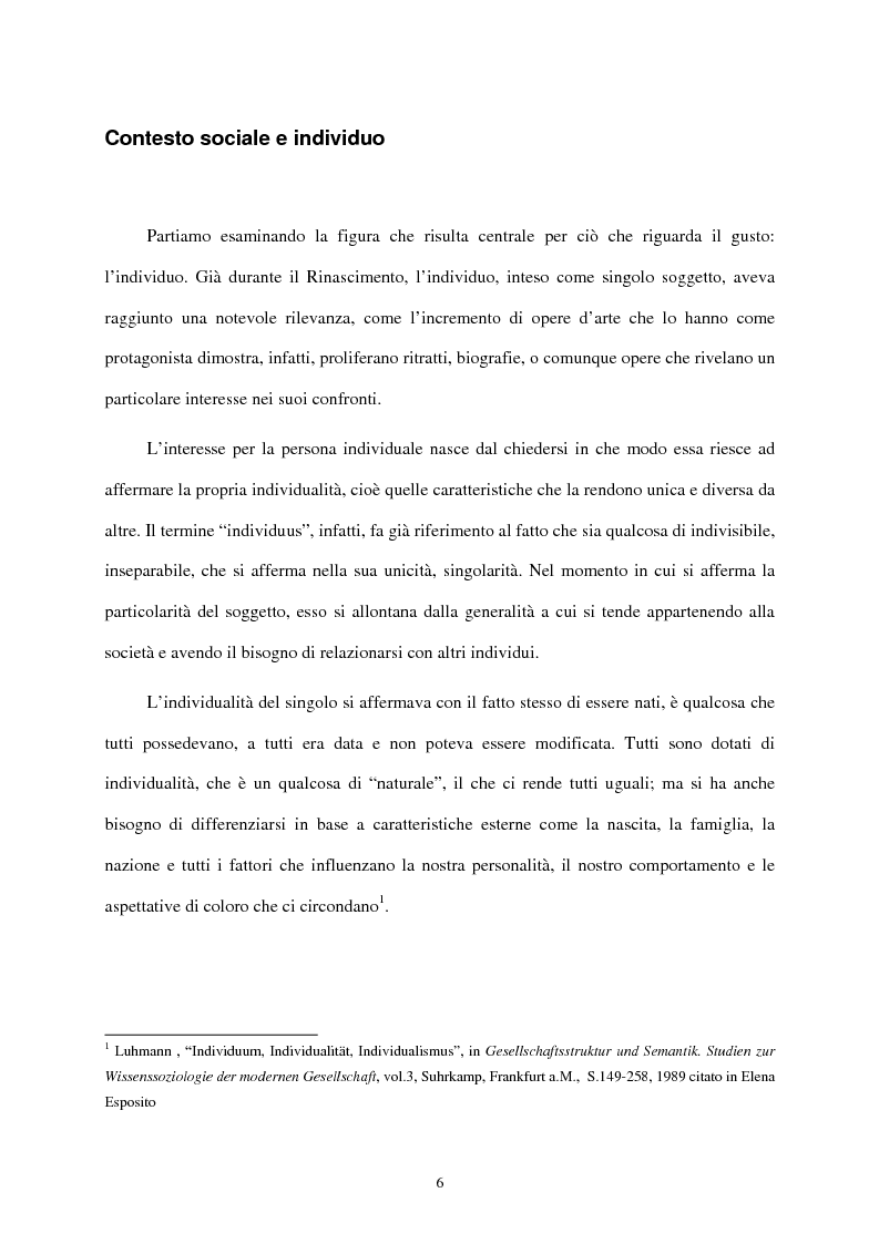 Anteprima della tesi: I mass media e il ruolo del gusto nella società moderna, Pagina 2