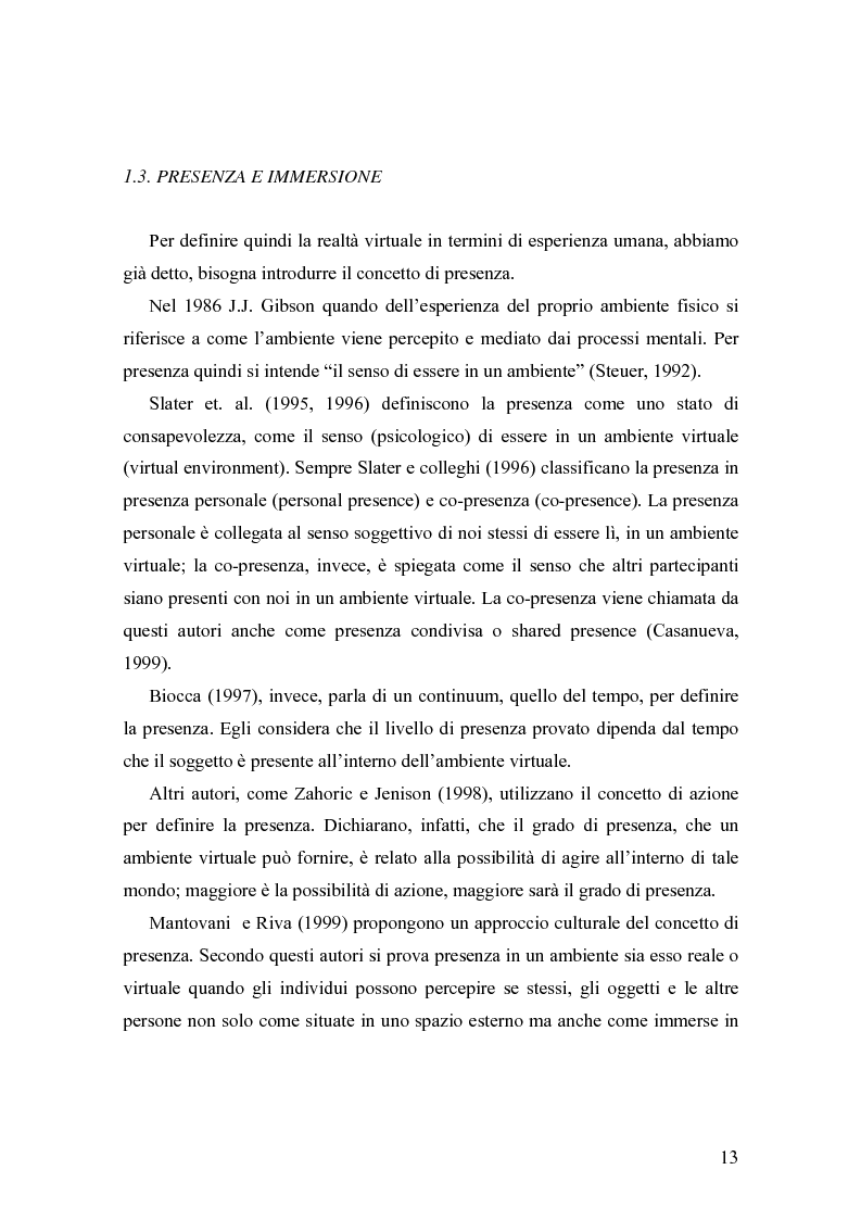 Anteprima della tesi: Analisi comunicative e cooperative in un ambiente virtuale condiviso, Pagina 10