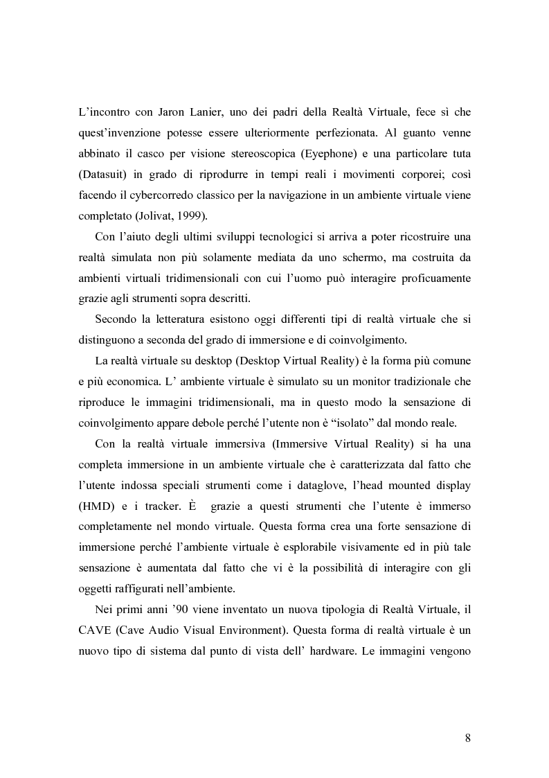 Anteprima della tesi: Analisi comunicative e cooperative in un ambiente virtuale condiviso, Pagina 5