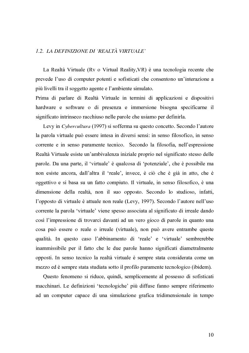 Anteprima della tesi: Analisi comunicative e cooperative in un ambiente virtuale condiviso, Pagina 7
