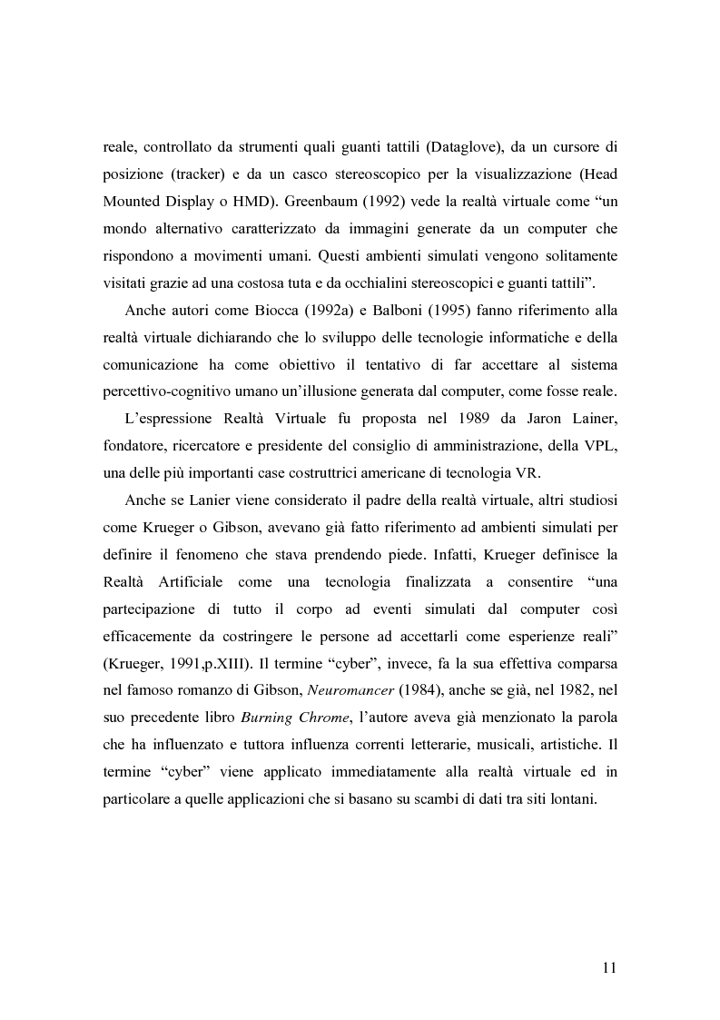 Anteprima della tesi: Analisi comunicative e cooperative in un ambiente virtuale condiviso, Pagina 8