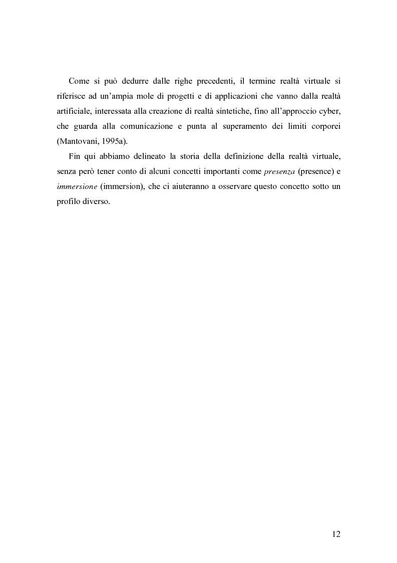 Anteprima della tesi: Analisi comunicative e cooperative in un ambiente virtuale condiviso, Pagina 9