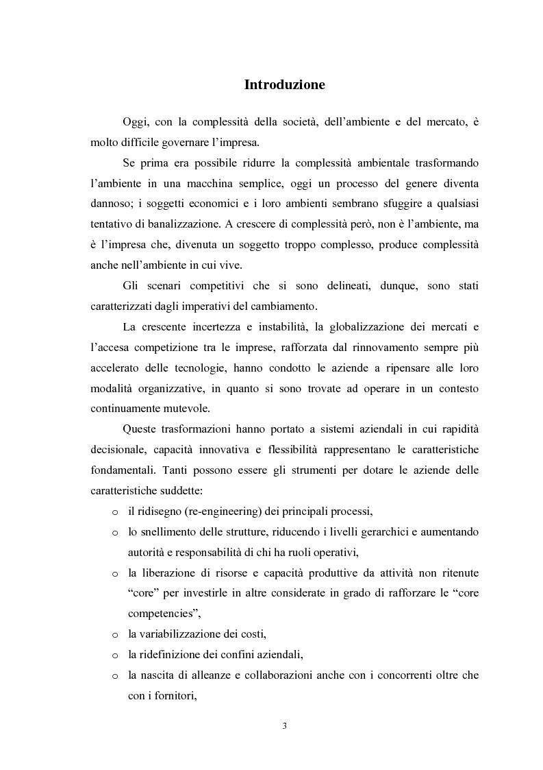 Anteprima della tesi: I vantaggi e i rischi dell'outsourcing: il global service di manutenzione in Solvay Chimica Italia SpA, Pagina 1