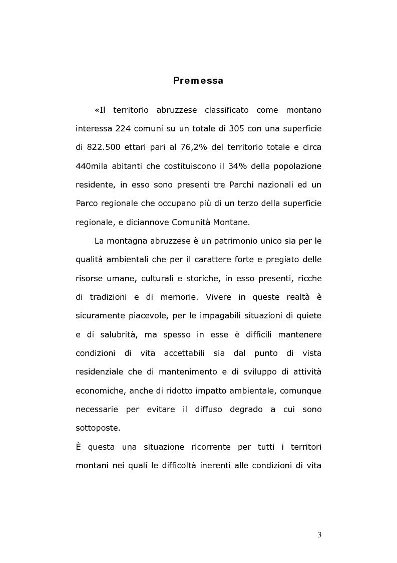 Anteprima della tesi: Un modello di sviluppo ecocompatibile: il progetto ''Banca dati Vestina'', Pagina 1