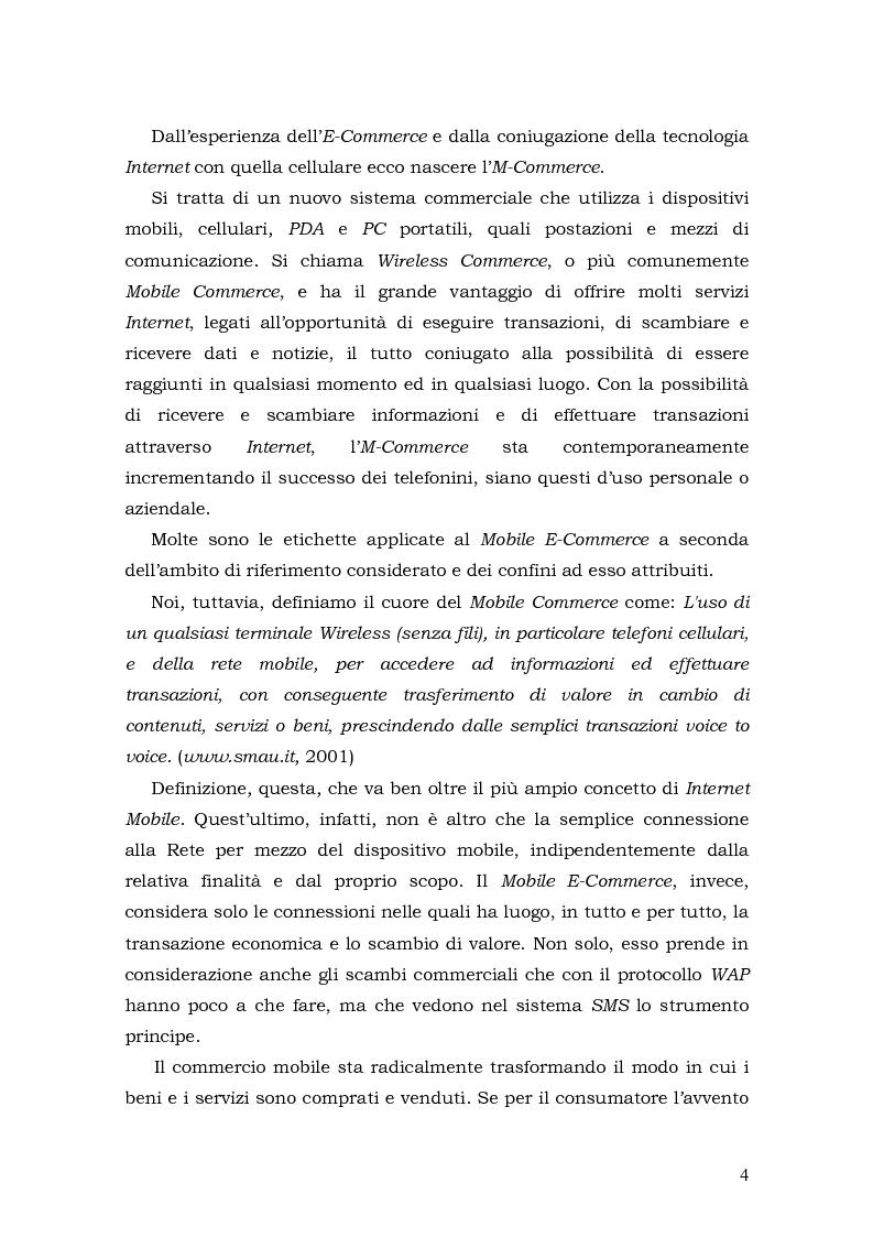 Anteprima della tesi: Prospettive di sviluppo nel mobile commerce, Pagina 4