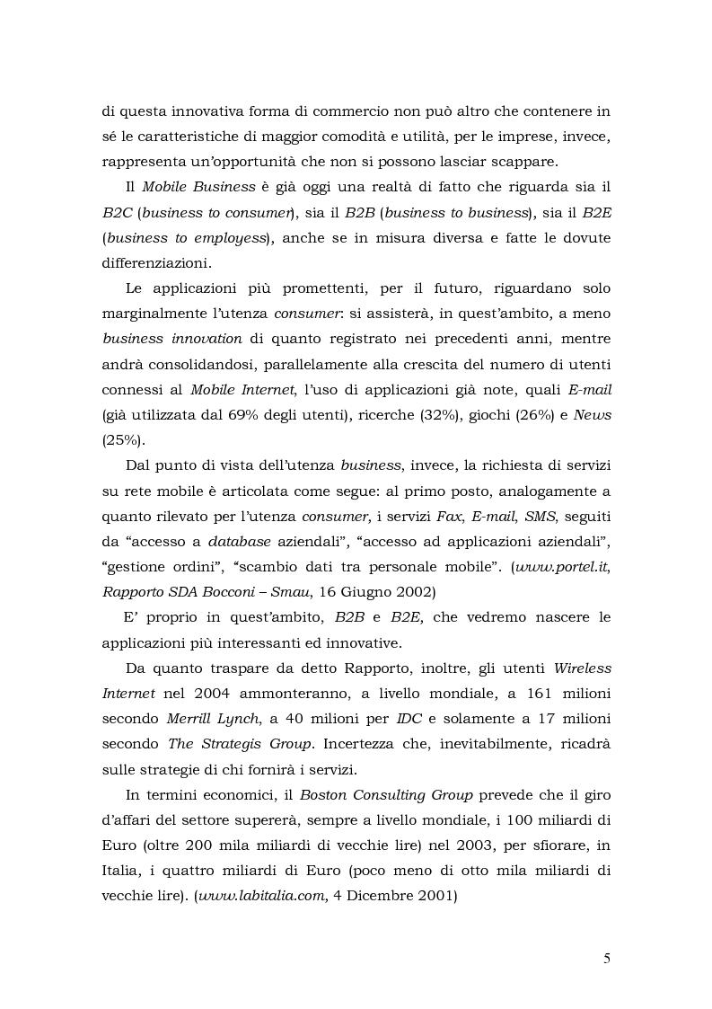Anteprima della tesi: Prospettive di sviluppo nel mobile commerce, Pagina 5