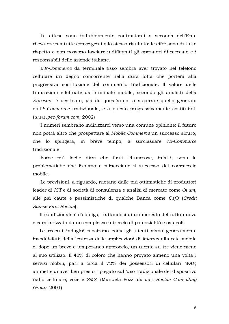 Anteprima della tesi: Prospettive di sviluppo nel mobile commerce, Pagina 6