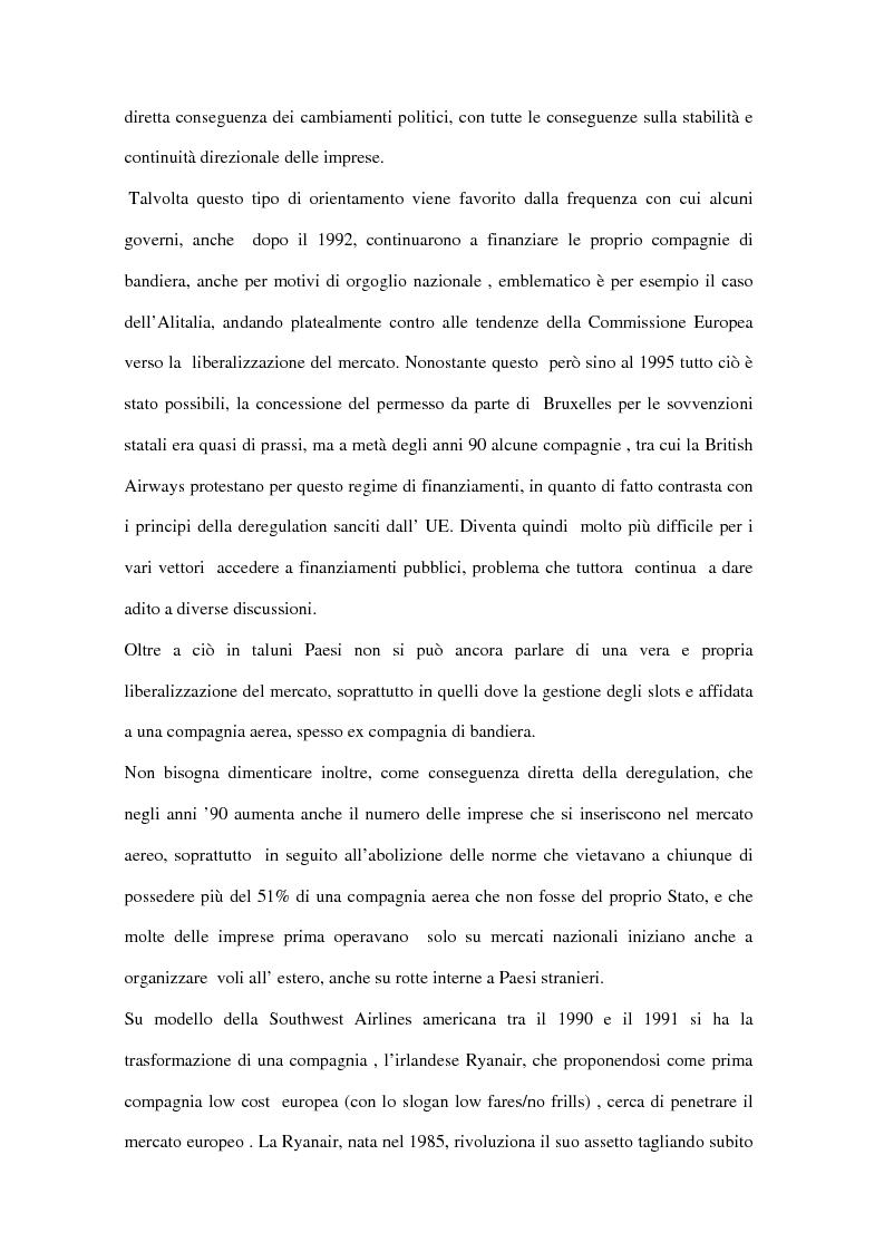 Anteprima della tesi: Trasporto aereo dopo l'11/09: evoluzione della domanda e principali effetti sulle compagnie di linea, Pagina 7