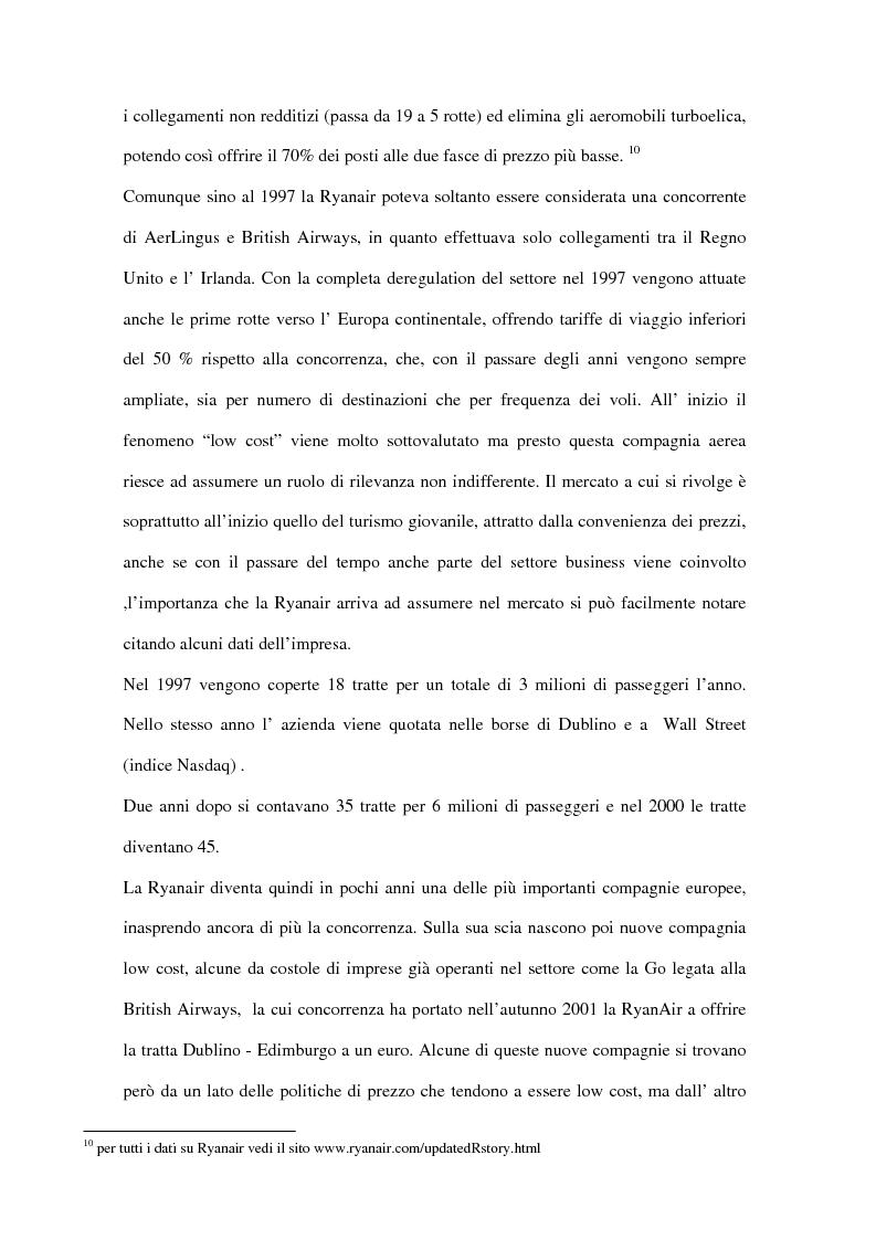 Anteprima della tesi: Trasporto aereo dopo l'11/09: evoluzione della domanda e principali effetti sulle compagnie di linea, Pagina 8