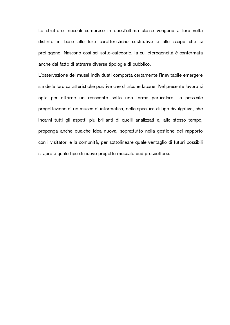 Anteprima della tesi: L'informatica esposta al museo: analisi e prospettive, Pagina 3