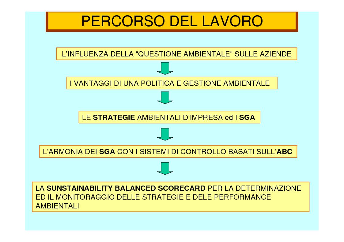 Anteprima della tesi: La revisione gestionale nella misurazione delle performance ambientali d'impresa: la ''Sunstainability Balanced Scorecard'', Pagina 2