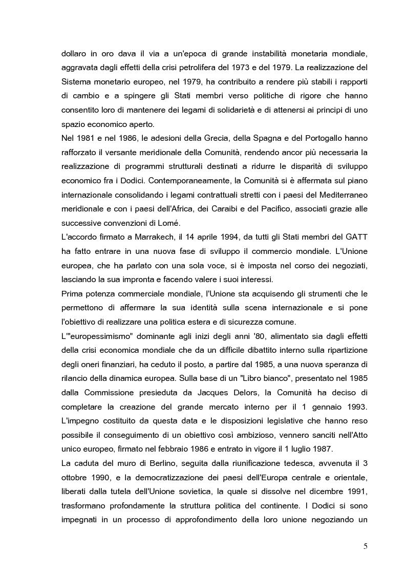 Anteprima della tesi: Cooperazione economica e ambientale dell'Unione europea con paesi del sud del Mediterraneo, Pagina 3