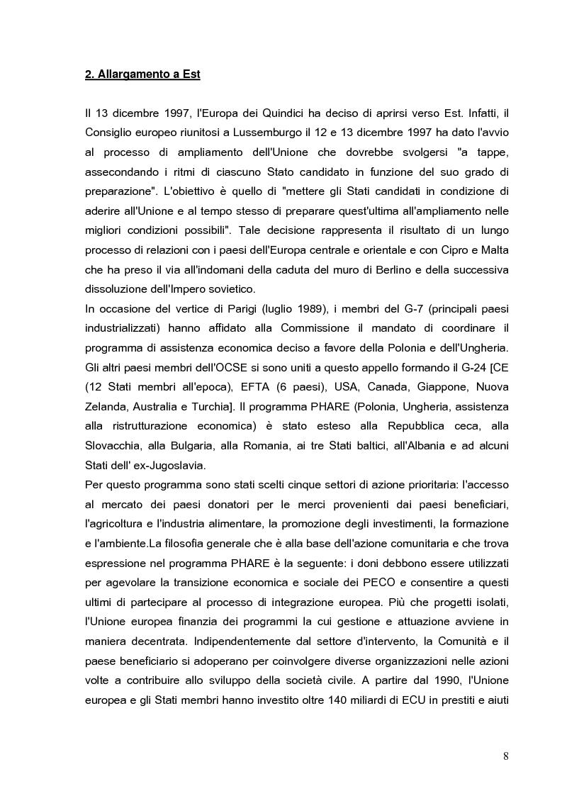 Anteprima della tesi: Cooperazione economica e ambientale dell'Unione europea con paesi del sud del Mediterraneo, Pagina 6