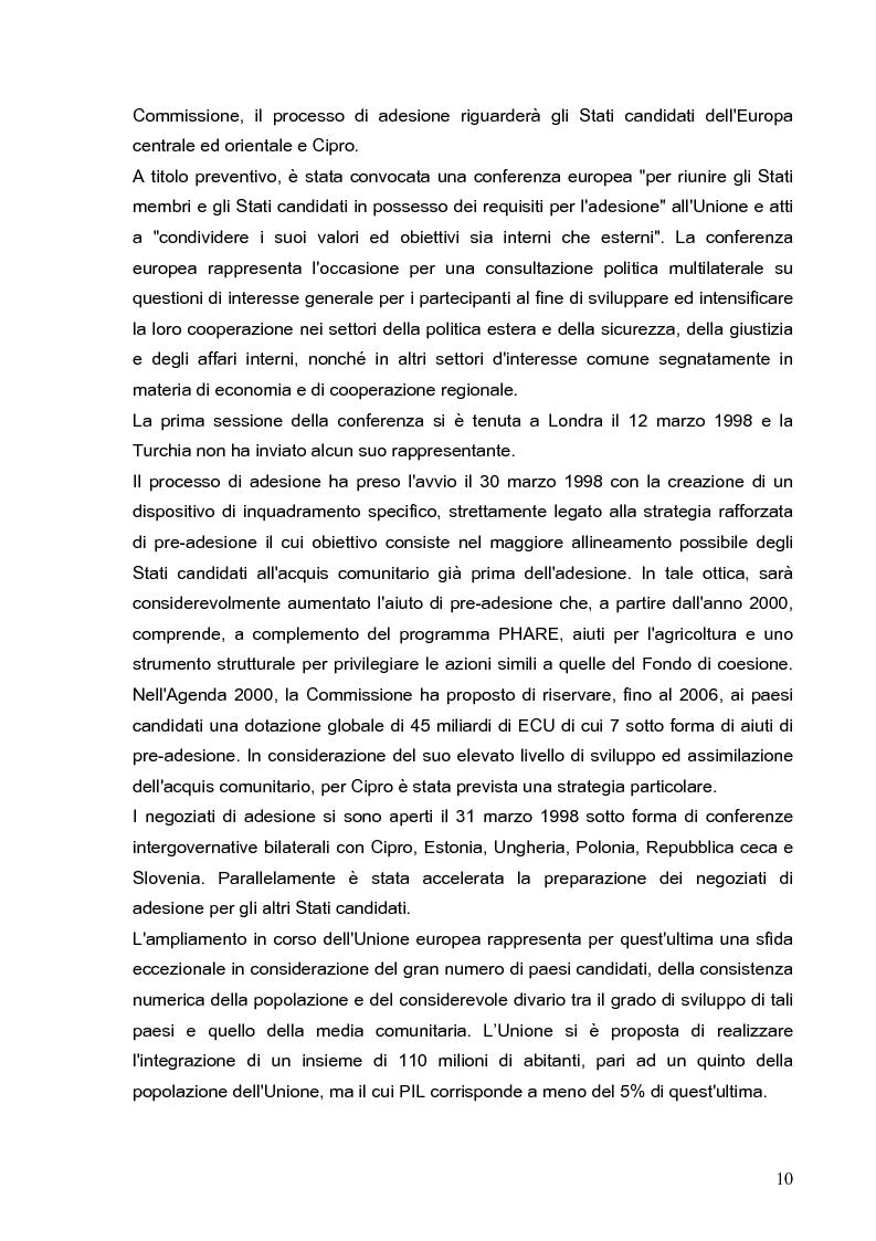 Anteprima della tesi: Cooperazione economica e ambientale dell'Unione europea con paesi del sud del Mediterraneo, Pagina 8