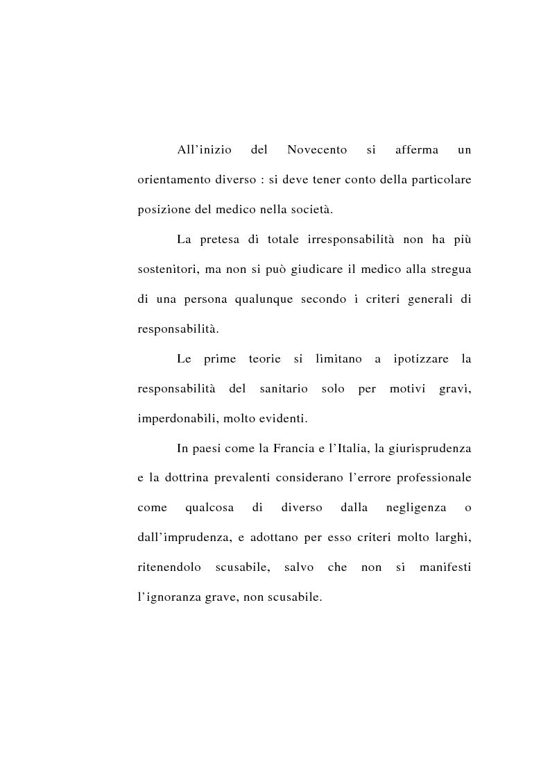 Anteprima della tesi: Responsabilità civile del medico per l'errore diagnostico, Pagina 4