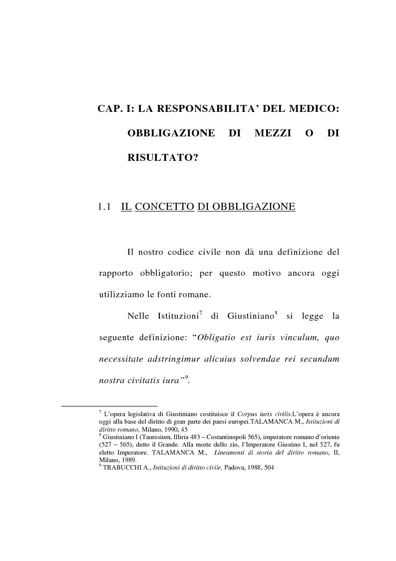Anteprima della tesi: Responsabilità civile del medico per l'errore diagnostico, Pagina 9