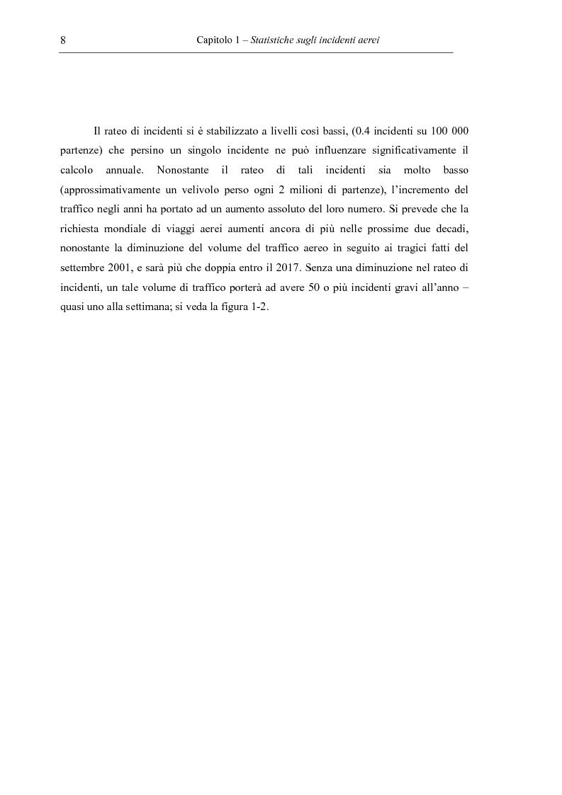 Anteprima della tesi: Sicurezza del volo – Impatto al suolo di un velivolo in regime di volo controllato (Cfit): analisi e prevenzione, Pagina 8