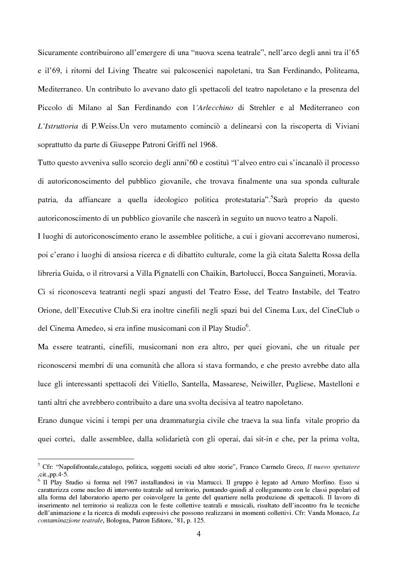 Anteprima della tesi: La sperimentazione teatrale a Napoli dal 1965 al 1975, Pagina 3