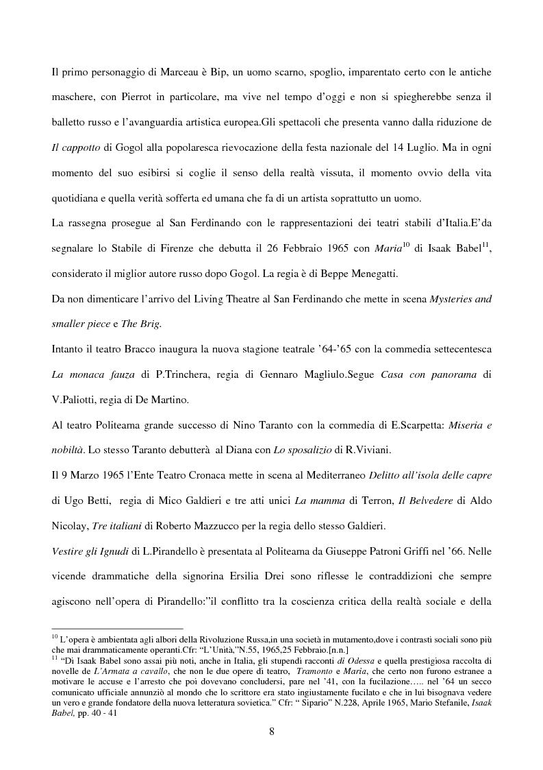 Anteprima della tesi: La sperimentazione teatrale a Napoli dal 1965 al 1975, Pagina 7