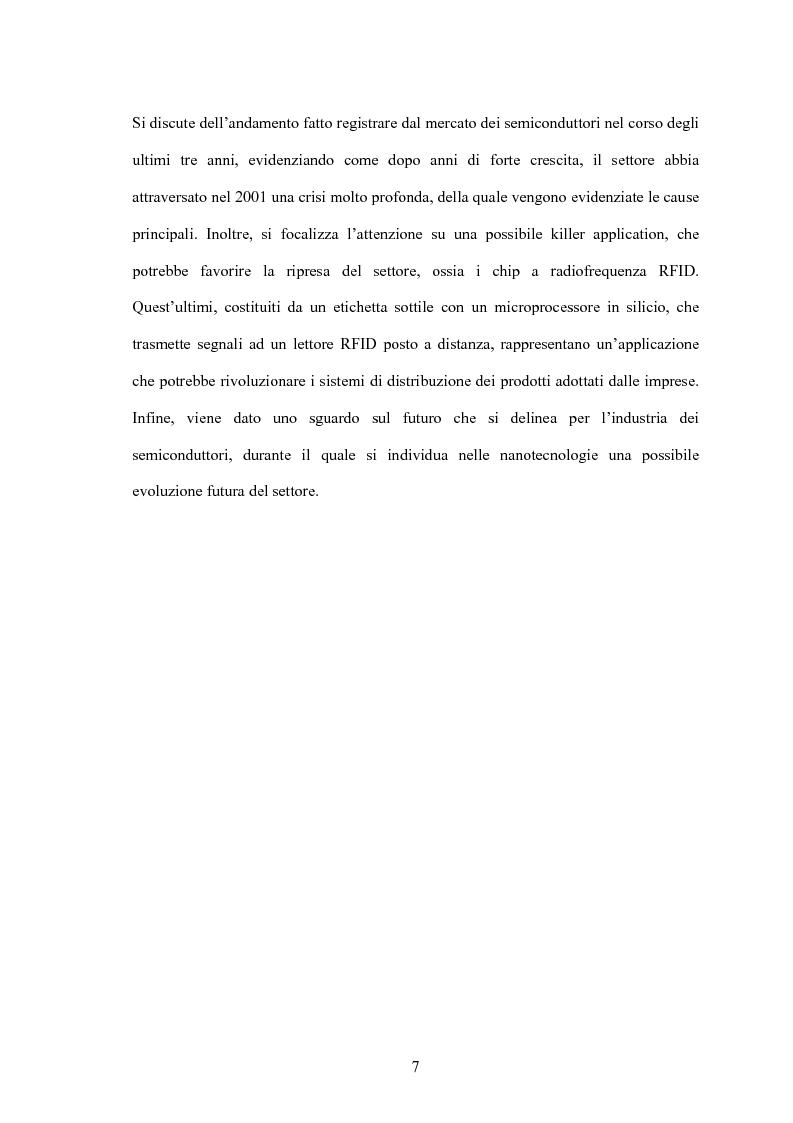 Anteprima della tesi: L'industria dei semiconduttori nell'ambito dell'evoluzione dell'Ict: problematiche e prospettive, Pagina 7