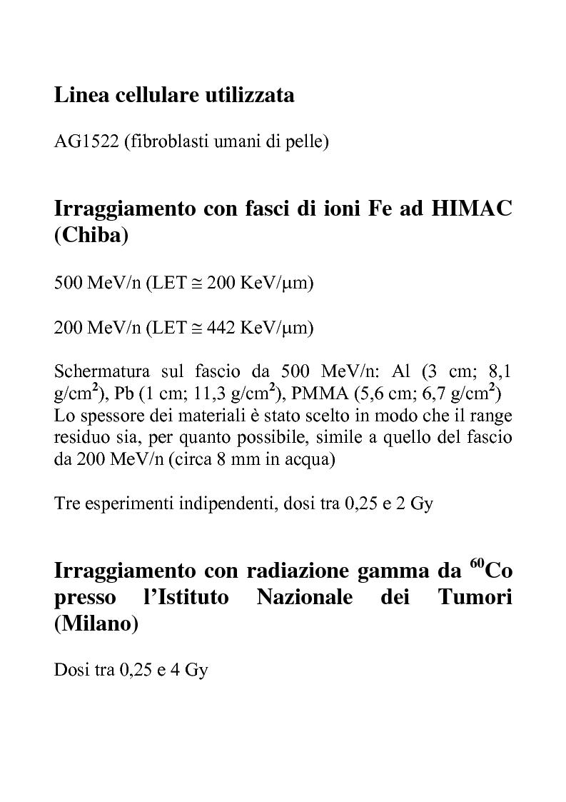 Anteprima della tesi: Efficacia biologica della radiazione spaziale in presenza di schermature, Pagina 5
