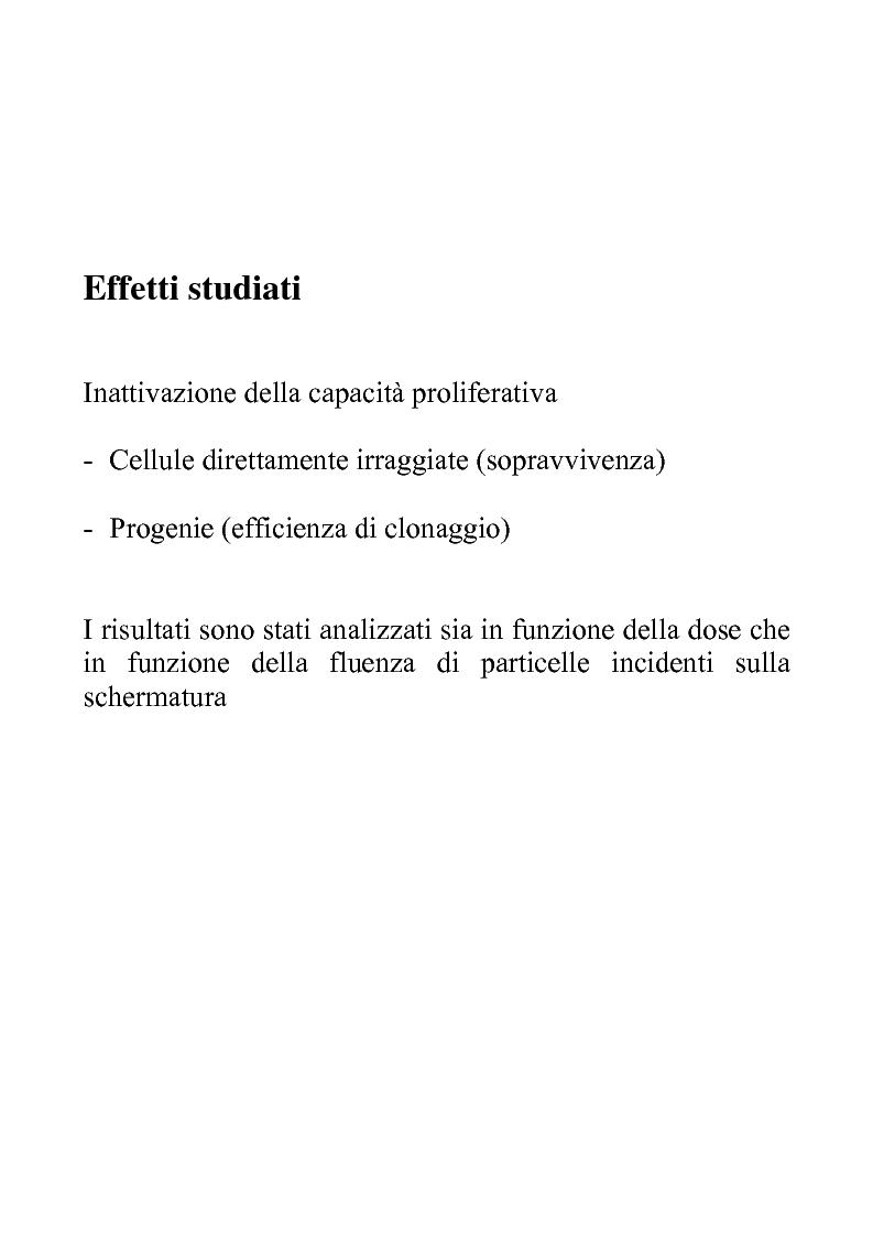 Anteprima della tesi: Efficacia biologica della radiazione spaziale in presenza di schermature, Pagina 6
