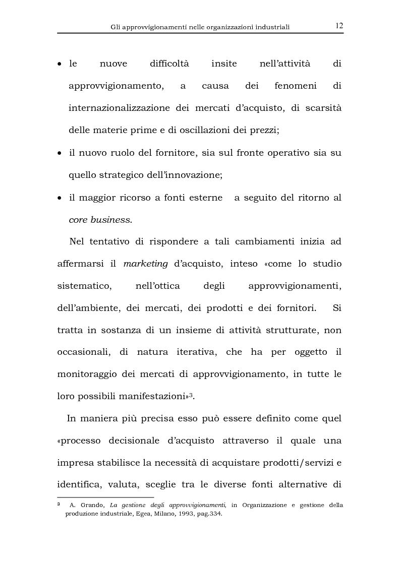 Anteprima della tesi: Il processo di acquisto delle imprese industriali nella logica virtuale. Il caso Nylstar, Pagina 12