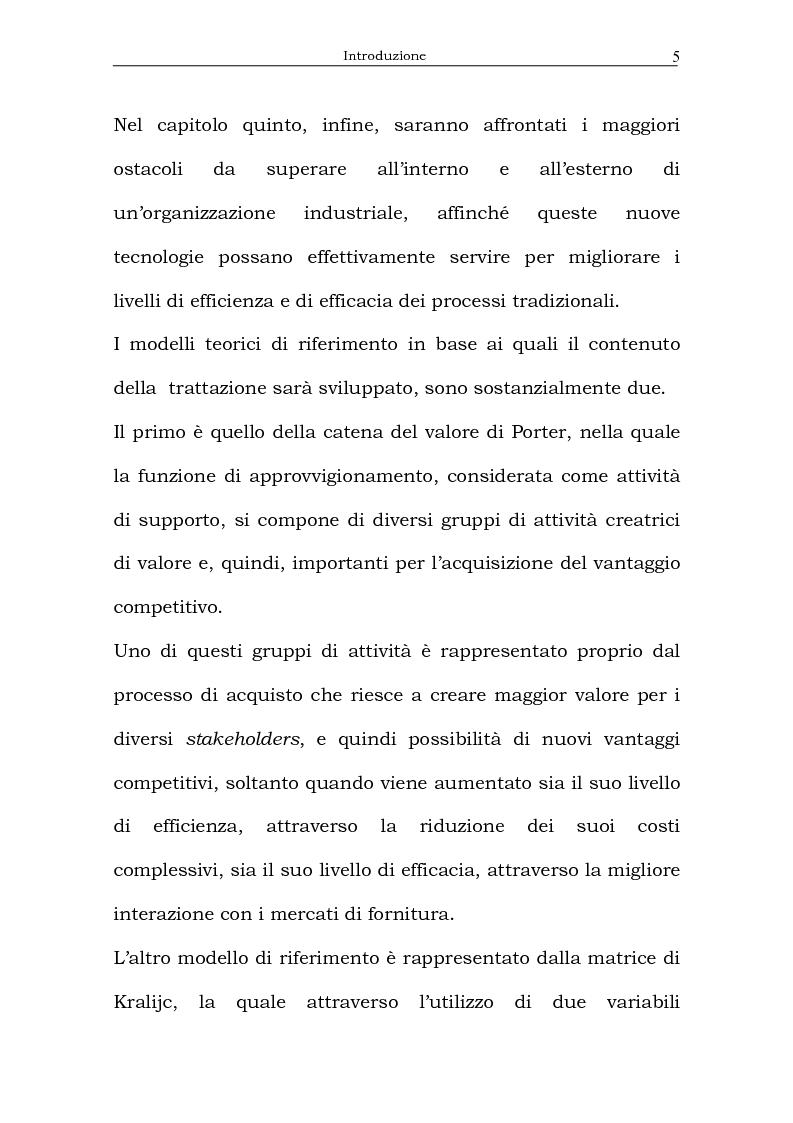 Anteprima della tesi: Il processo di acquisto delle imprese industriali nella logica virtuale. Il caso Nylstar, Pagina 5
