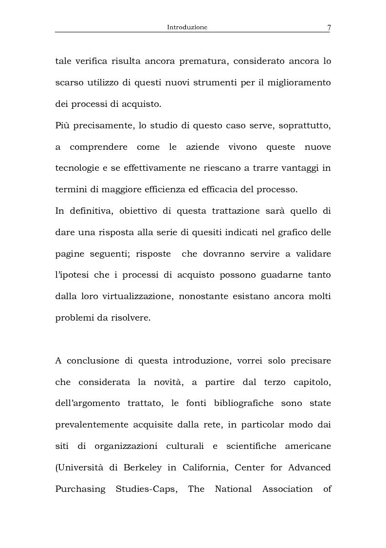 Anteprima della tesi: Il processo di acquisto delle imprese industriali nella logica virtuale. Il caso Nylstar, Pagina 7