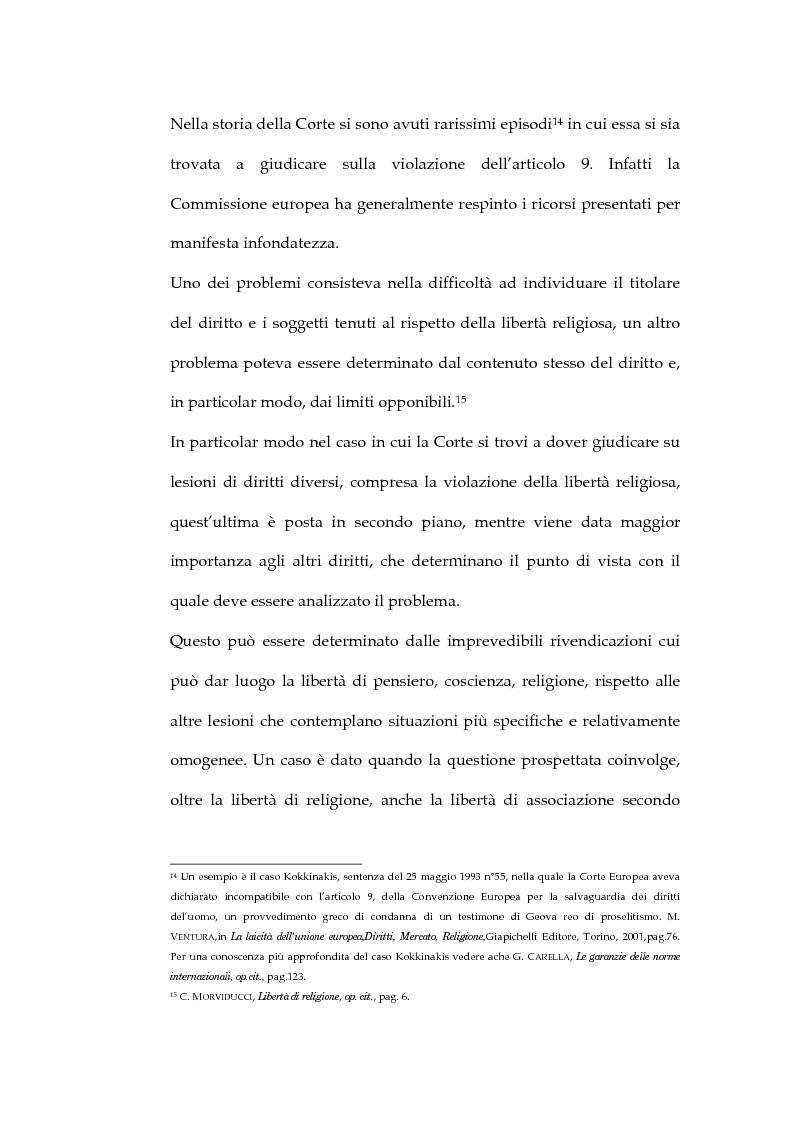 Anteprima della tesi: La sentenza della Corte Europea dei diritti dell'uomo Refah Partisi contro Turchia - Aspetti della libertà di religione in Turchia, Pagina 10
