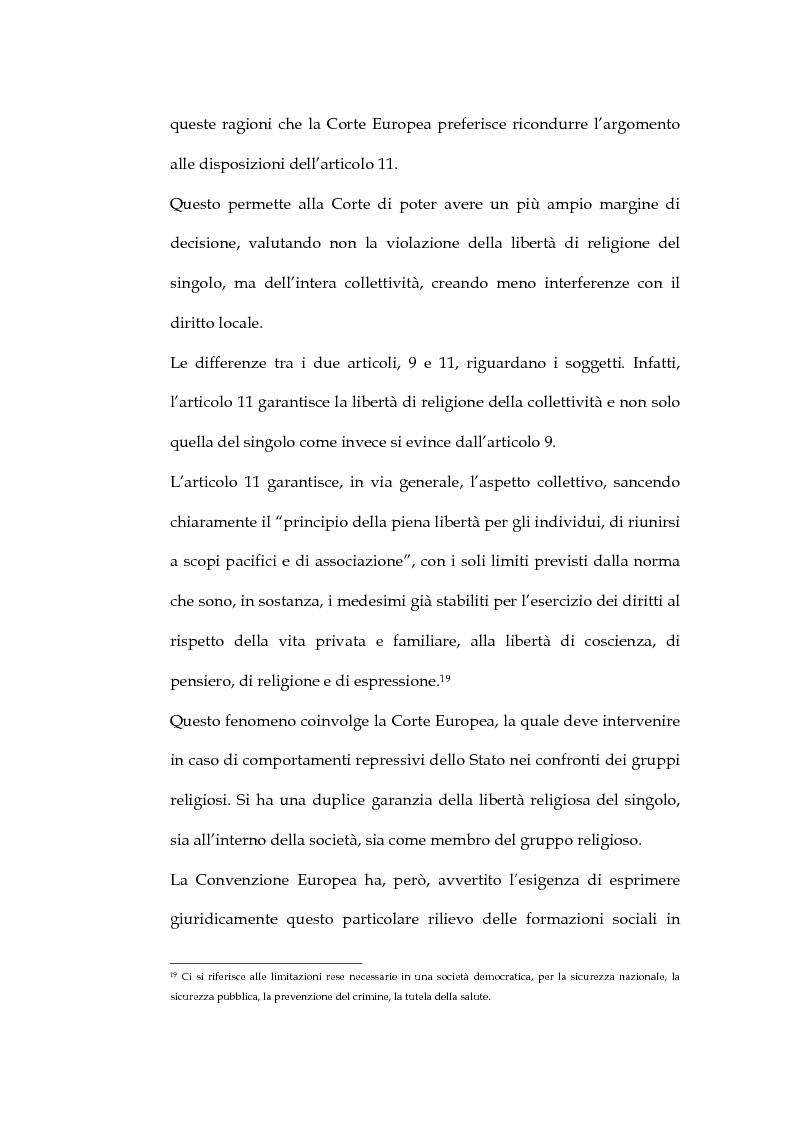 Anteprima della tesi: La sentenza della Corte Europea dei diritti dell'uomo Refah Partisi contro Turchia - Aspetti della libertà di religione in Turchia, Pagina 12