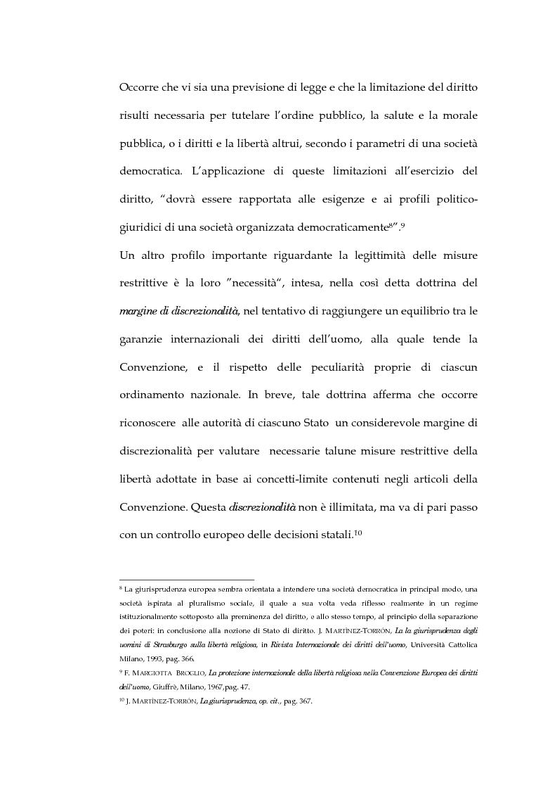Anteprima della tesi: La sentenza della Corte Europea dei diritti dell'uomo Refah Partisi contro Turchia - Aspetti della libertà di religione in Turchia, Pagina 6