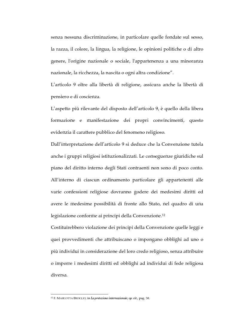 Anteprima della tesi: La sentenza della Corte Europea dei diritti dell'uomo Refah Partisi contro Turchia - Aspetti della libertà di religione in Turchia, Pagina 8